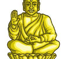 Buddha Gold Statue pixel art by PXLFLX