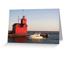"""Cruisin' By """"Big Red"""" Greeting Card"""