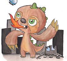 Slothzilla by kpcomix