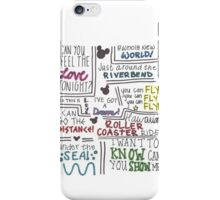 Disney Lyrics #2 iPhone Case/Skin