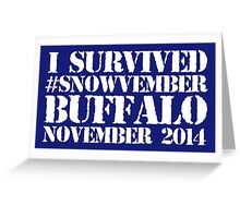 Cool 'I survived #snowvember Buffalo November 2014' Snowstorm T-Shirt and Accessories Greeting Card