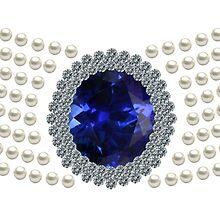 Diana's sapphire chocker necklace by eldonshorey