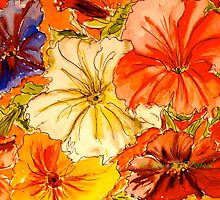 Peachy Petunias...for everything.. by ©Janis Zroback
