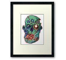 Trick-or-Treating 1313 Rotted Face Framed Print