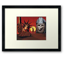 Planet of the Apes montage Framed Print