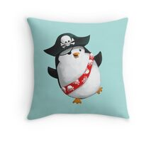 Cute Pirate Penguin Throw Pillow