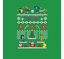A Super Smash 8-Bit Christmas Photographic Print