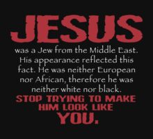 Jesus Was a Jew - Red/White by BlueEyedDevil