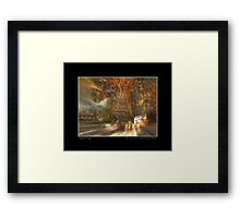 The Past Alive in the Present in Ghana Fine Art Poster Framed Print