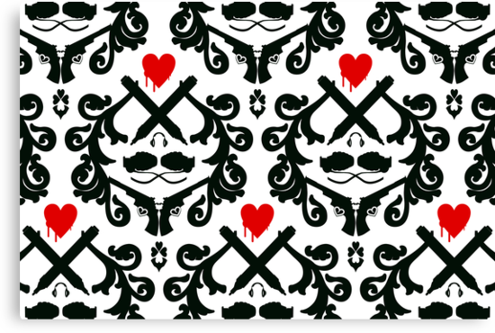 Love Retro Wallpaper by Plastica Tees