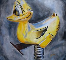 Springy Duck  by Pamela Burger