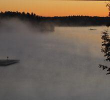 Misty Fall Morning by Keeawe