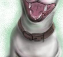 Lola English Bull Terrier Painting Sticker