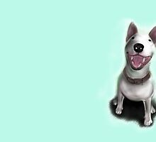 Lola English Bull Terrier Painting by Sookiesooker