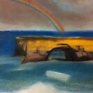 The great ocean road pastel drawing by Melissa Goza