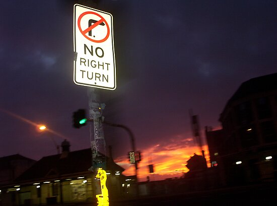 No Right Turn by HarbourCityCards