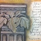 Inspirational Thoreau quote calligraphy art card by Melissa Goza
