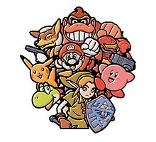 Super Smash Bros 64 Japan Characters Photographic Print