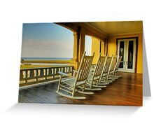 Pull up a chair and stay awhile Greeting Card