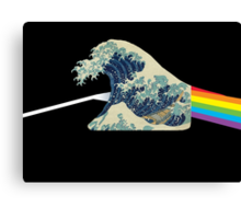 The dark side of the wave. - Amazing mashup -  Canvas Print