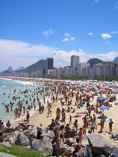 Busy Beach by Ruth  Kennedy