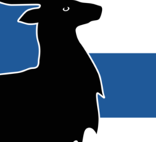 Suomi: Finnish Flag and Reindeer Sticker