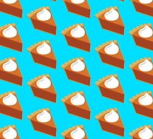Pumpkin Pie Pattern Blue by HolidaySwaggT