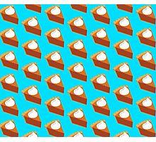 Pumpkin Pie Pattern Blue Photographic Print