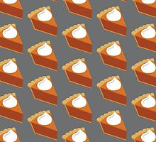 Pumpkin Pie Pattern Grey by HolidaySwaggT