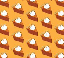 Pumpkin Pie Pattern Yellow by HolidaySwaggT