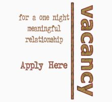 One Night Vacancy - Design 2 by Zal Saadi