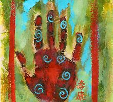 Abstract Chakra Hand by Elena Ray