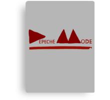 Depeche Mode : Logo 2013 Red Canvas Print