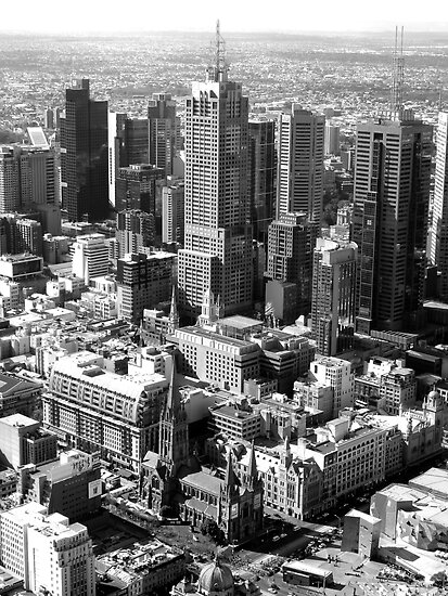 A birdseye view over Melbourne... by Paige