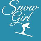 Snowgirl Après-Ski Skier Design (White) by theshirtshops