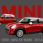 Mini 55th anniversary by car2oonz