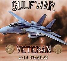 F-14 Tomcat Gulf War Veteran by Mil Merchant