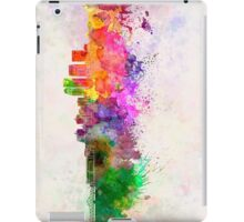 Louisville skyline in watercolor background iPad Case/Skin