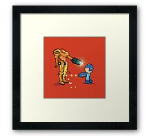 Samus Vs Mega Framed Print