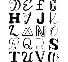 Alphabet Typography by bridgetdav