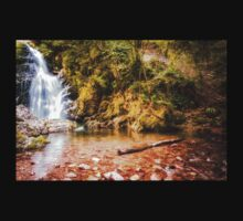 Autumn waterfall at Navarre in Spain Kids Clothes