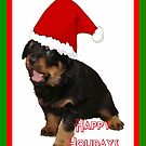 Happy Holidays Rottweiler Christmas Greetings by taiche