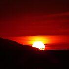 sunset at the bay of banderas - puesta del sol en bahia de banderas by Bernhard Matejka