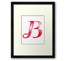 Alphabet B Framed Print