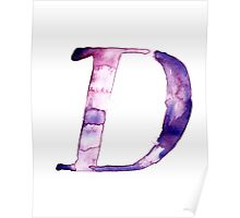Alphabet D Poster