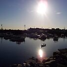 Perkins Cove Maine at Sunset by thewaterfallhunter