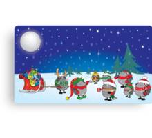 Hedgehog's Christmas magic Canvas Print