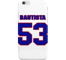 National baseball player Denny Bautista jersey 53 iPhone Case/Skin