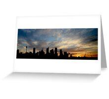 Sydney Skyline Silhouette  Greeting Card