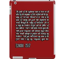 Ezekiel 25:17 - The path of the righteous man pulp fiction quote iPad Case/Skin